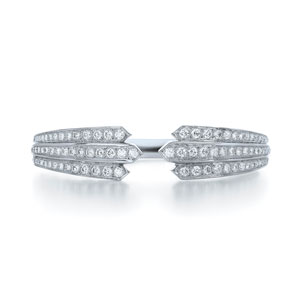Two way diamond bangle from the Cascade Collection in 18K white gold
