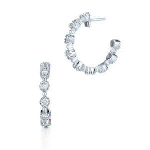 Diamond hoop earrings from the Stardust Collection in 18K white gold