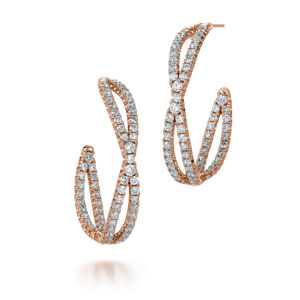 Diamond hoop earrings from the Fidelity Collection in 18K rose gold