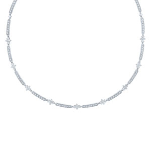 Single row diamond necklace from the Jasmine Collection in 18K white gold
