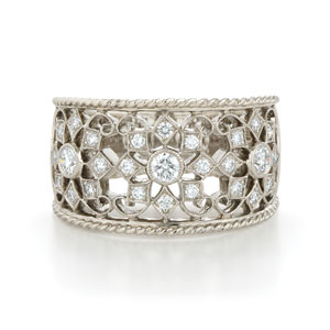 Lace diamond band from the Kwiat Vintage Collection in 18K white gold