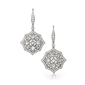 Web diamond earrings from the Kwiat Vintage Collection in 18K white gold
