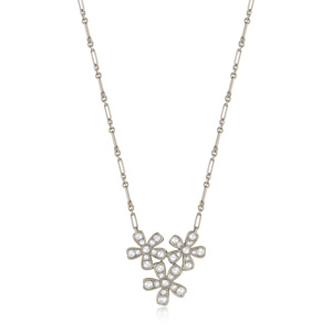 Floral diamond pendant from the Kwiat Vintage Collection in 18K white gold
