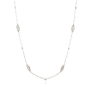 Diamond chain with filigree elements from the Kwiat Vintage Collection in 18K white gold