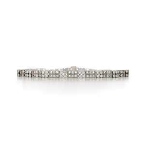 Two row diamond bracelet from the Kwiat Vintage Collection in 18K white gold
