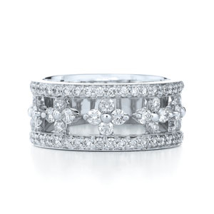 Diamond partway ring from the Jasmine Collection in 18K white gold