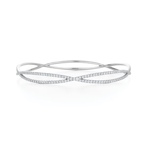 Diamond bangle bracelet from the Fidelity Collection in 18K white gold