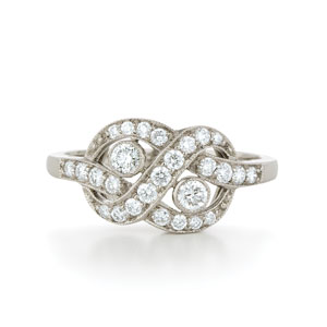 Knot diamond ring from the Kwiat Vintage Collection in 18K white gold