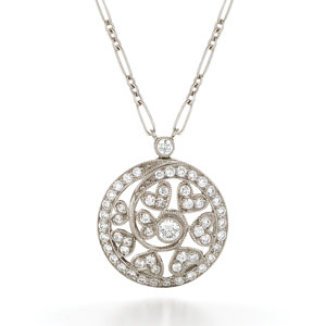Swirl diamond pendant from the Kwiat Vintage Collection in 18K white gold