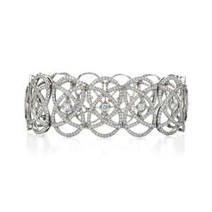 Infinity diamond bracelet from the Kwiat Vintage Collection in 18K white gold