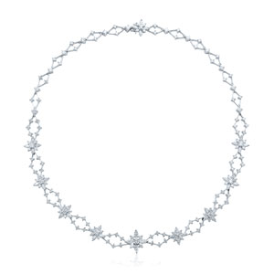 Diamond necklace from the Kwiat Star Collection in 18K white gold