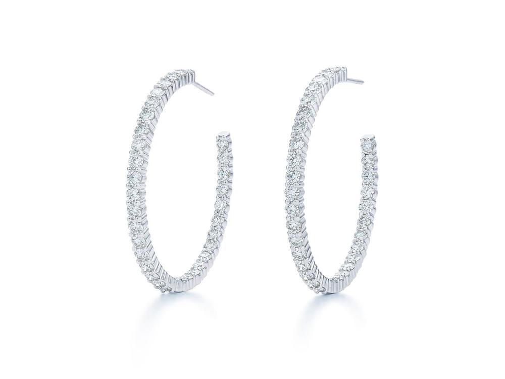 Kwiat Inside Out Diamond Hoop Earrings