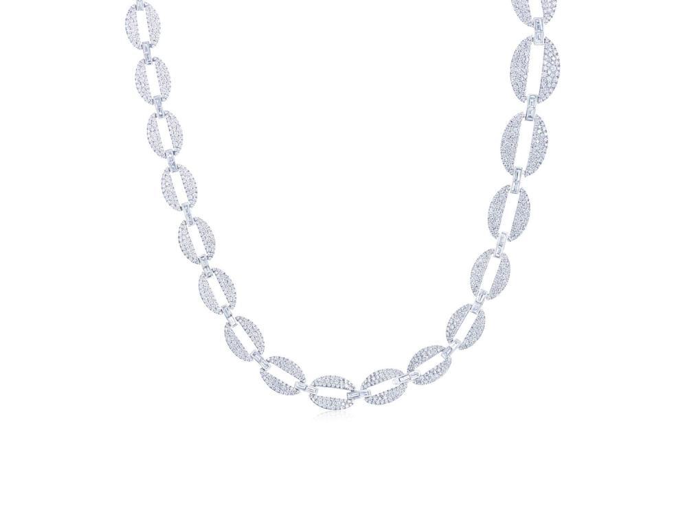 Kwiat Diamond Oval Link Necklace